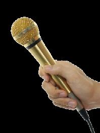 Gouden-microfoon